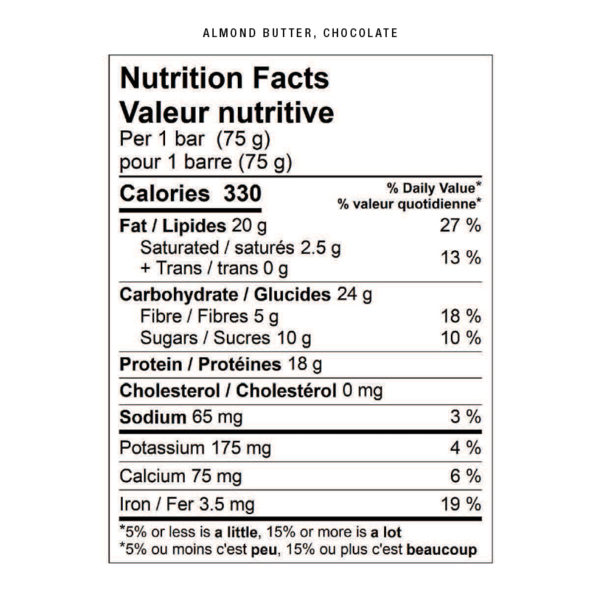 almond butter chocolate nutritional facts